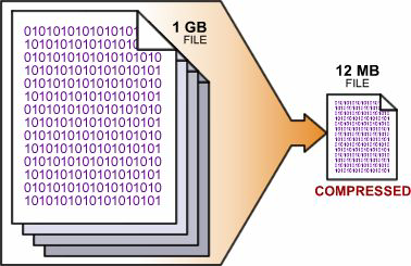 Options compress binary