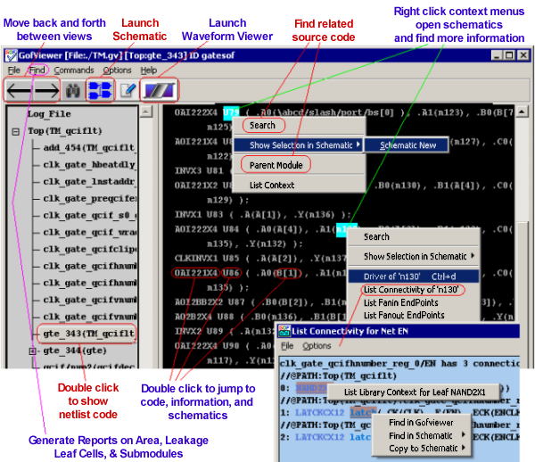 Gates-on-the-Fly Netlist Editor and Schematic Viewer