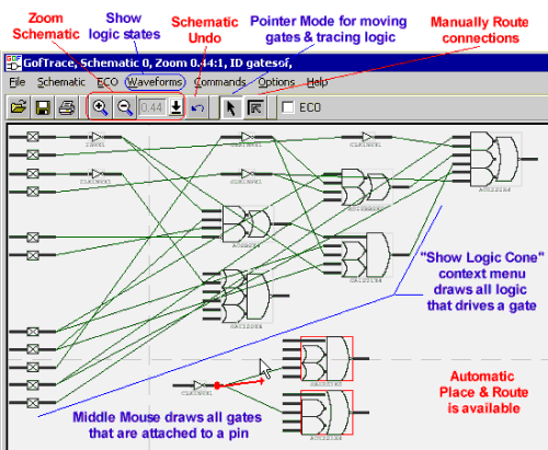 SynaptiCAD releases Gates-on-the-Fly Netlist Editor and Schematic Viewer